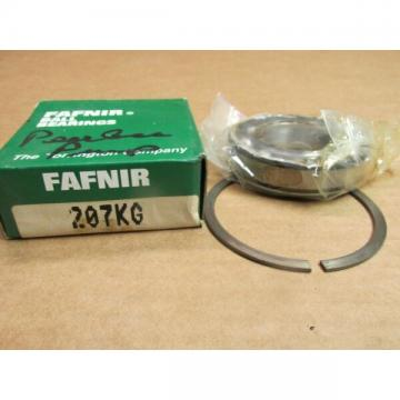 FAFNIR 207KG BEARING OPEN w/ snap ring 207 KG 6207-NR 35x72x17 mm  USA